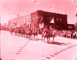 Williston's 75th Anniversary parade, Ward County Sheriff's Posse horse riders, N.D.