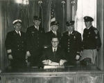 Governor William L. Guy with city officials