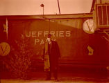 Theodore F. Jeffries at Old-Timers Park, Williston, N.D.