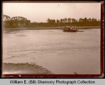 Boat on Missouri River, Northwest Williston, N.D.
