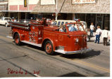 Williston fire engine No. 3 in parade, Williston, N.D.