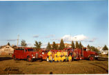Alamo firemen and fire engines, Alamo, N.D.