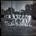 Group portrait of the 1971 State Champions, Grenora Gophers baseball team, Grenora, N.D.