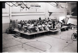 Band concert in gymnasium, Williston, N.D.