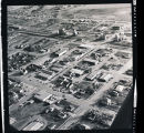 Aerial view of a town, N.D.