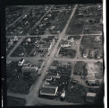 Aerial view of homes and buildings, N.D.