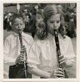 Band Day Parade 1966, two clarinet players, Williston, N.D.