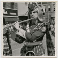 Band Day Parade 1966, Glasgow flute player marching in parade, Williston, N.D.