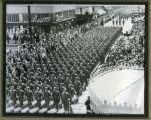 Williston's Company E marching in Louisiana during World War II