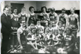 Epping Eagles men's basketball team portrait, Epping, N.D.