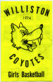 Williston Coyotes, 1974 Girls Basketball program, Williston, N.D.