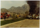 Pickup on fire in Phoenix, Ariz.