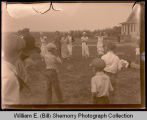 Playing on the front lawn, Northwest Williston, N.D.