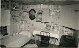 Interior of homestead shack, Hanks Museum, N.D.