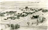 Aerial view during winter of Wheelock, N.D.