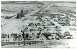 Aerial view during winter of McGregor, N.D.