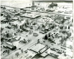 Aerial view during winter of Ray, N.D.