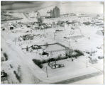Aerial view during winter of Alamo, N.D.
