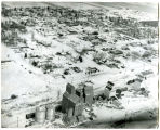 Aerial view during winter of Grenora, N.D.