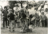 Children in a gunny sack race, N.D.