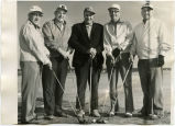 Five men with golf clubs, N.D.