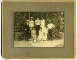 Pasonault family on front steps, Williston, N.D.