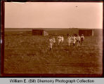 Foot races, women, Hebron, N.D.