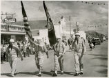 Flag bearers in parade, Tioga, N.D.