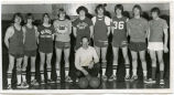 Wildrose Sr. boys basketball team portrait, Wildrose, N.D.