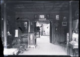 Interior of J.E. Pasonault's photography studio, Williston, N.D.