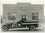 Fire engine at International Harvester building