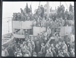 Soldiers on U.S.S. General Brook Troop Transport ship
