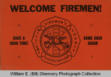 Williams County Firemen's Association Welcome sign