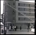 Firemen's practice at Plainsman Hotel, Williston, N.D.