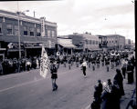 Williston High School marching band in parade, Williston, N.D.