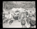 Japanese soldiers with a cart, China