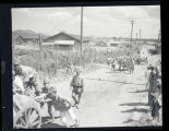Japanese soldiers with carts, China