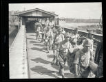 Japanese soldiers leaving China
