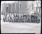 Military group portrait, Williston, N.D.