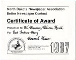 North Dakota Newspaper Association Award