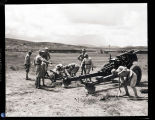 Chinese troops with artillery, China