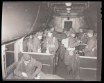 Soldiers leaving in railroad car