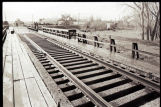 Railroad tracks in Zap, N.D.