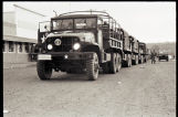 North Dakota National Guard trucks in Zap, N.D.