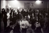Students at dance in Town Hall during Zip to Zap in Zap, N.D.