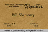 William E. (Bill) Shemorry Williston Plains Reporter card