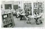 Interior of the Williston High School Library, Williston, N.D.