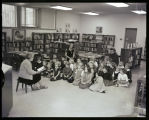 James Memorial Library reading class for children, Williston, N.D.