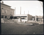 Construction of a new addition onto the James Memorial Library, Williston, N.D.