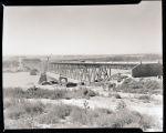 Hjalmer Nelson Memorial Highway Bridge under construction near Cartwright, N.D.